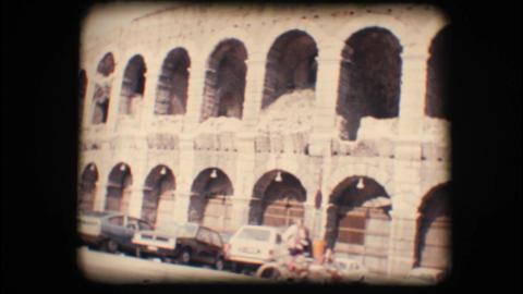Vintage 8mm. Verona arena Footage