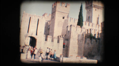 Vintage 8mm. Sirmione castle Stock Video Footage