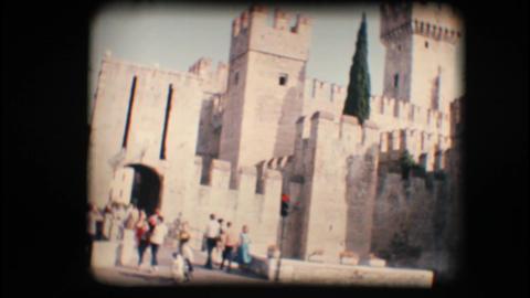 Vintage 8mm. Sirmione castle Footage