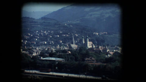 Vintage 8mm. View of Brixen Stock Video Footage