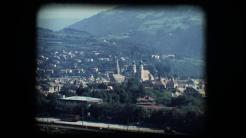 Vintage 8mm. View of Brixen Footage