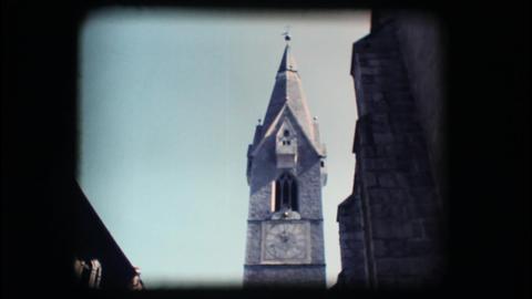 Vintage 8mm. Medieval steeple Stock Video Footage