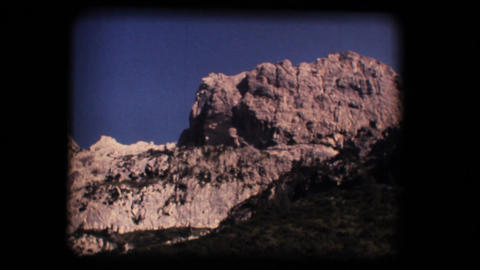 Vintage 8mm. Dolomite mountains Stock Video Footage