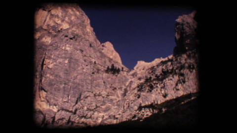 Vintage 8mm. Dolomite mountains Footage