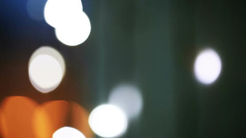 Blinking city lights. Holiday background Stock Video Footage