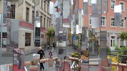 RIGA, LATVIA - OCTOBER 10, 2012: Tree of Mirrors... Stock Video Footage