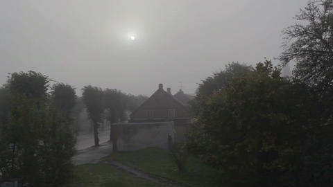 Fog in the morning in Liepaja, Latvia Stock Video Footage