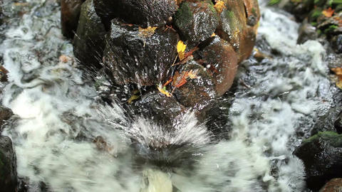 Water beating on the stone Stock Video Footage