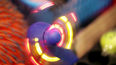 Toy glowing fan Stock Video Footage