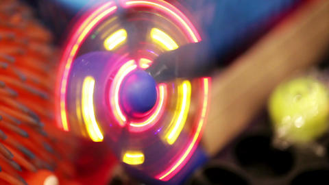 Toy Glowing Fan stock footage
