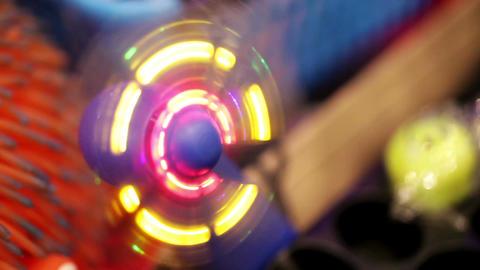 Toy glowing fan Stock Video Footage