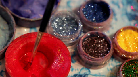 Water make-up stuff Stock Video Footage