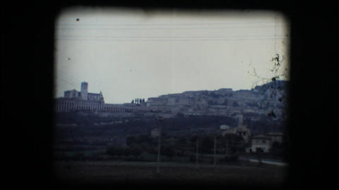 Vintage 8mm. View of Assisi Footage