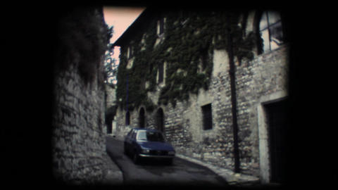 Vintage 8mm. Little street in Assisi Footage