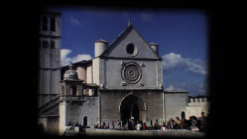 Vintage 8mm. Basilica of San Francesco (Saint Fran Footage