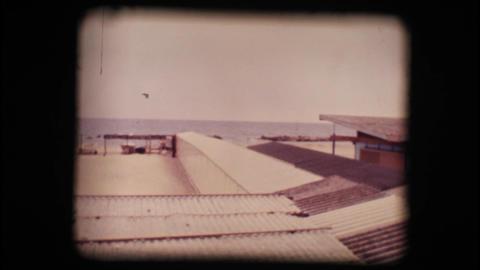 Vintage 8mm. Empty seaside resort in winter Footage
