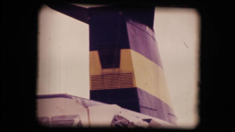 Vintage 8mm. Docked cruise ship Stock Video Footage