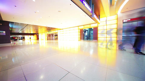 Airport Terminal in Hong Kong. Time Lapse Stock Video Footage