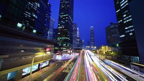 Road in Hongkong. Timelapse Stock Video Footage