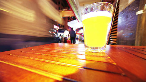 Beer. Timelapse Stock Video Footage