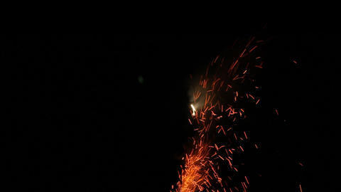 Fireworks Foutain 16 Stock Video Footage