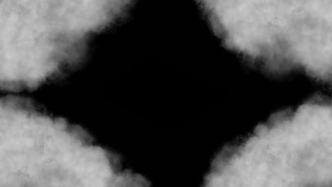 Cloud, isolated on black background, loop Animation