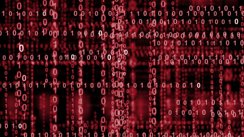 10854 internet binary data highway red Stock Video Footage