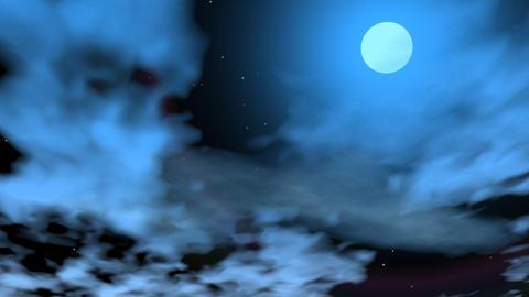 Romantic moon - 3D render Stock Video Footage