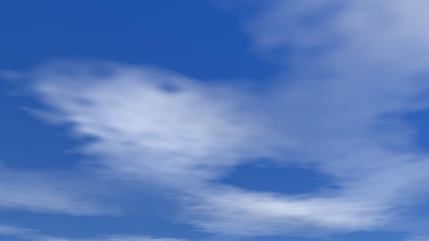 Moving clouds - 3D render Animation