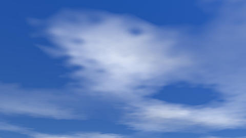 Moving clouds - 3D render Stock Video Footage