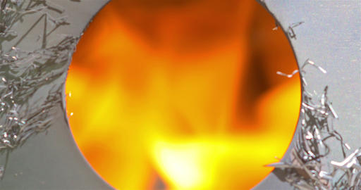 Hot Burning Fire Flames In Furnace Footage