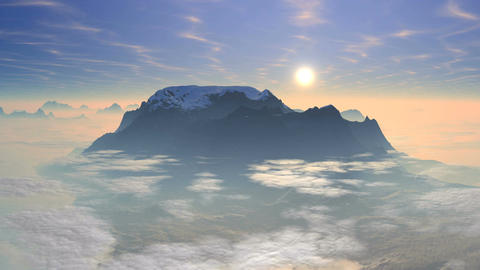 Sunrise over the mountain Animation