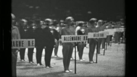 1967: Nationality team athlete welcoming 3rd Women's Modern Rhythmic Gymnastics  Live Action