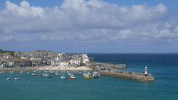 St. Ives harbor and boats Footage