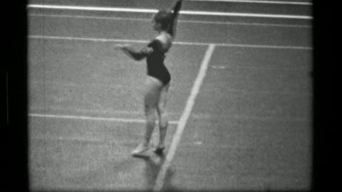 1967: Athlete #14 jump rope competition 3rd Women's Modern Rhythmic Gymnastics W Footage