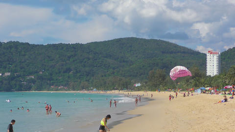 Parasailing on Phuket Footage