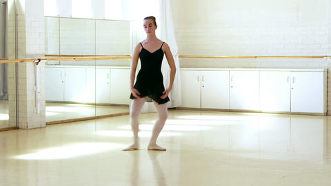 Front view of ballerina is dancing Footage