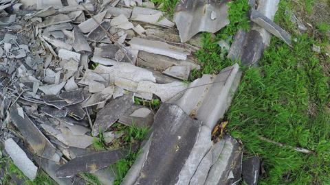 Pile of broken slate Live Action