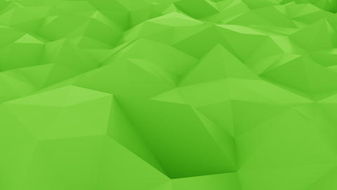 Abstract glossy polygonal green surface Live Action