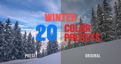 Winter Color Presets Premiere Pro Effect Preset