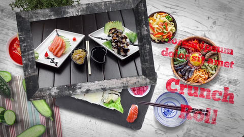 Sushi Promo After Effects Template