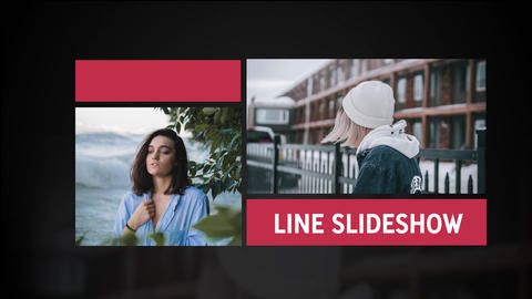 Line Slideshow After Effects Template