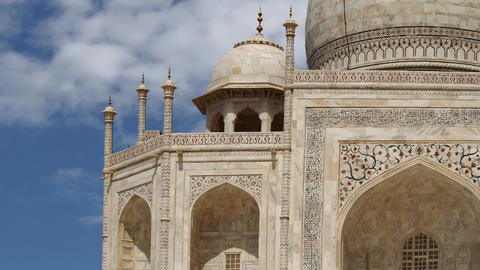 Taj Mahal in Agra, India Footage