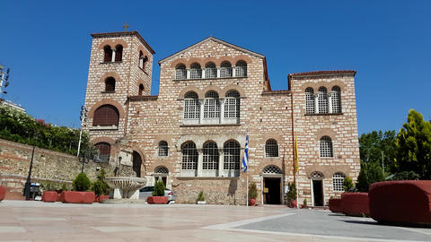 AgiosDimitriosAgios Dimitrios (Saint Dimitrios) church – Thessaloniki, Greece Footage