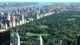 New York 326 overlooking Central Park, upper west side and Hudson River Footage
