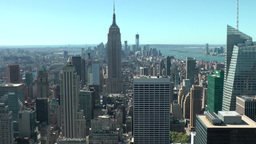 New York 205 Manhattan with Empire State Building from rooftop Footage