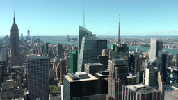 New York 207 Manhattan, Rockefeller Center Observation Deck, South View Footage