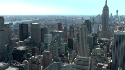 New York 209 Manhattan, Top of the Rock Observation Deck, View South-East Footage