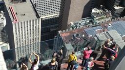 New York 212 Manhattan upper rooftop of Rockefeller Center Footage