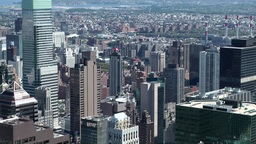 """New York 216 Manhattan, View over east side from """"Top of the Rock"""" Footage"""